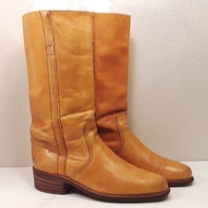 Frye Campus Womens 10 Riding Boots Tan Distressed